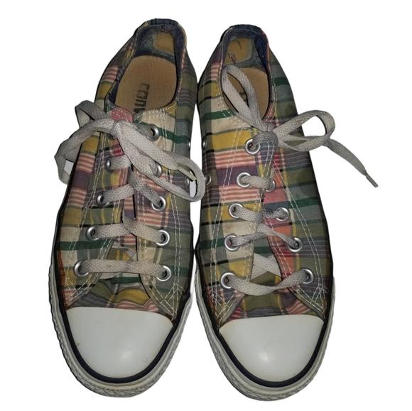 Men's Plaid Converse Sneakers